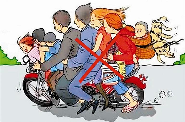 2019年摩托车可以载人吗?摩托车超载怎么处罚?