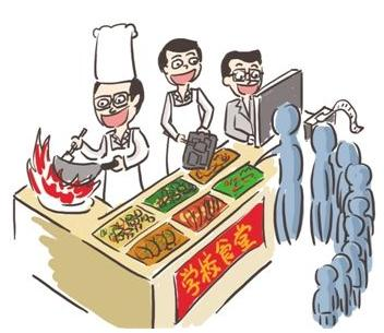小�W食堂用�_刷餐具 我���W校食堂安全管理制度是怎�拥模�
